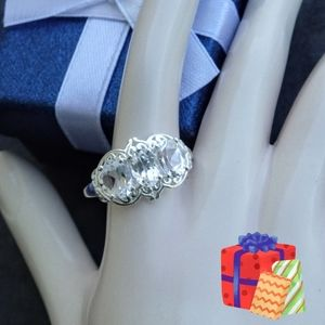 Jewelry - NEW sterling silver white topaz ring